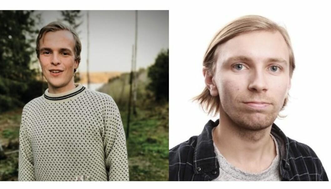 Tormod Malvin Sæther (t.v.) og Edvard Ruggesæter Ertesvåg blir Nettavisen-journalister.