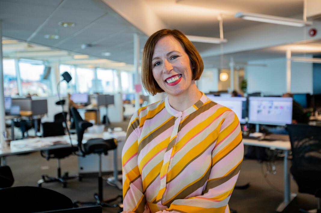 – Jeg pleier å si at jeg har tre bein i DN, ett i journalistikk, ett i teknologi og ett i forretning, sier Ingeborg Volan.