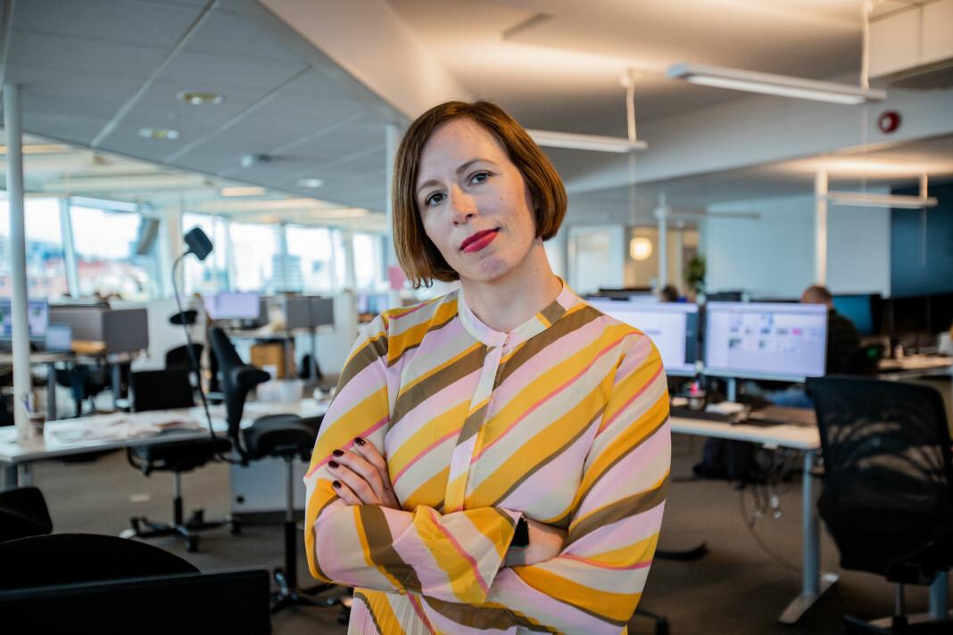 Ingeborg Volan går fra Dagens Næringsliv.