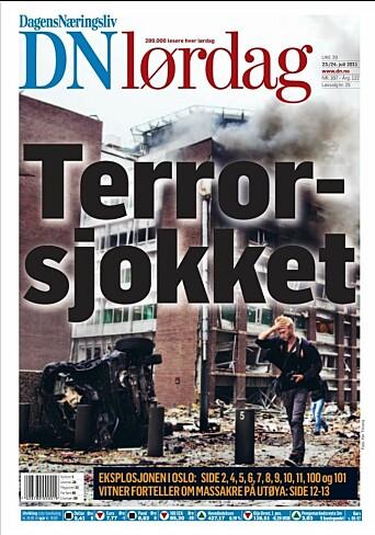 Fartein Rudjord på forsiden av DN.
