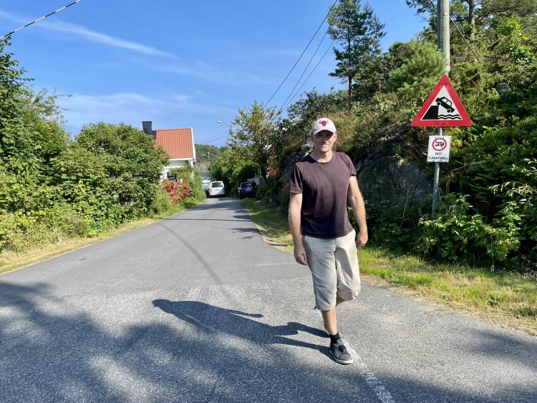 I sommervarmen har Rett24-redaktør Kjetil Kolsrud flyttet hjemmekontoret fra Oslo til Homborsund.
