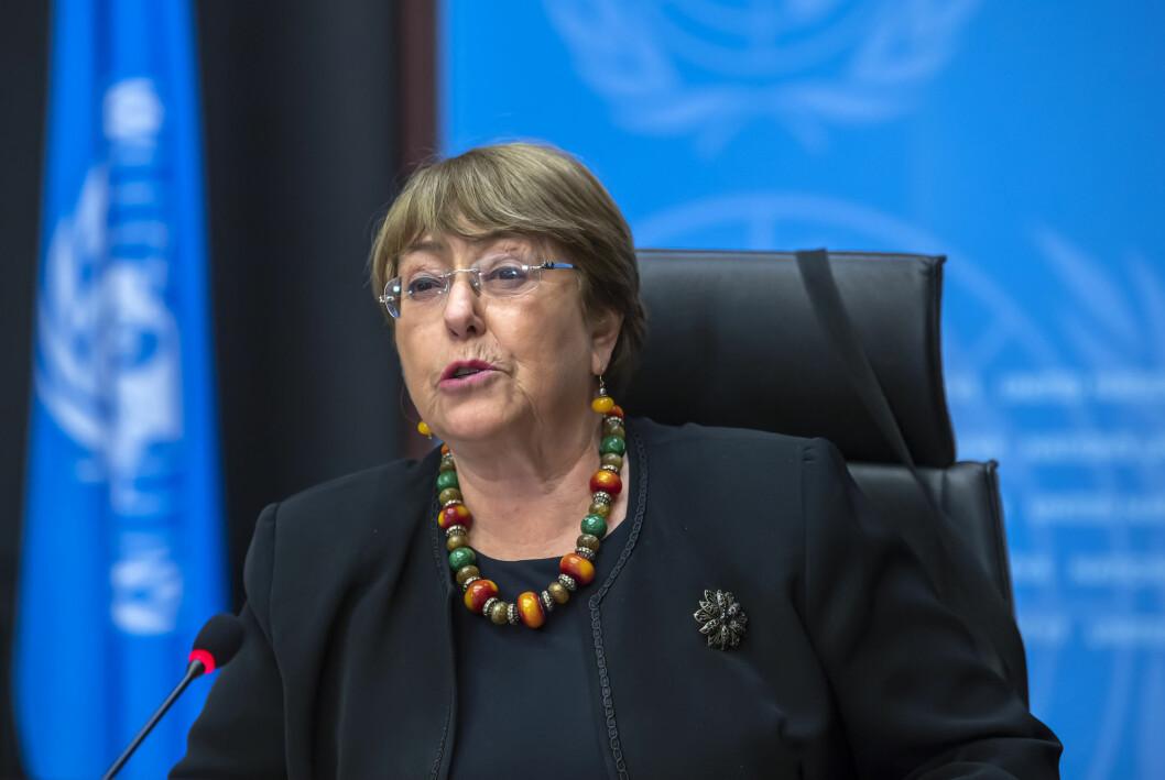 FNs menneskerettighetssjef Michelle Bachelet er bekymret etter de nye overvåkingsavsløringene.