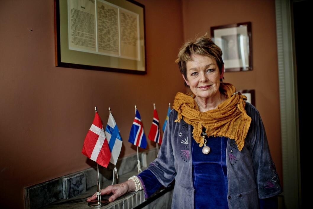 Ghita Nørby er ikke redd for å si ifra hvis hun mener journalistenes spørsmål er håpløse.