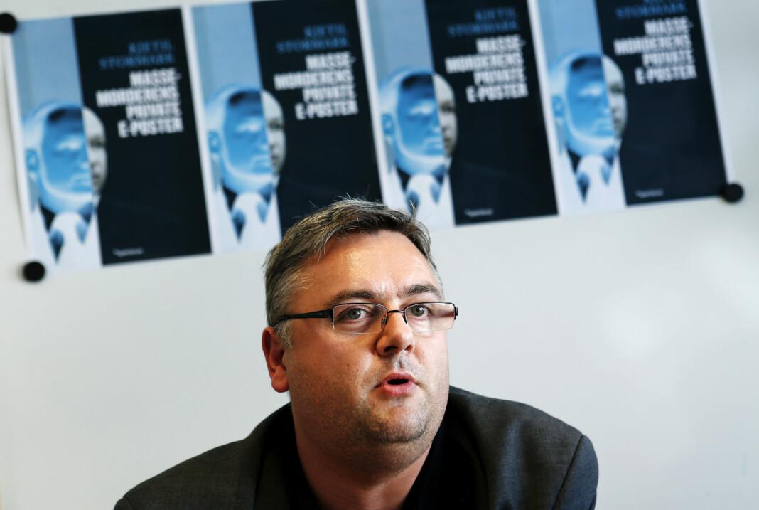 Kjetil Stormark fotografert i forbindelse med lanseringen av boka «Massemorderens private e-poster». Hans andre bok om 22. juli-terroren.