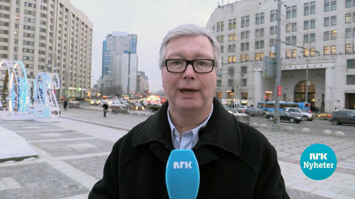 Jan Espen Kruse rapporterer fra Moskva i 2018.
