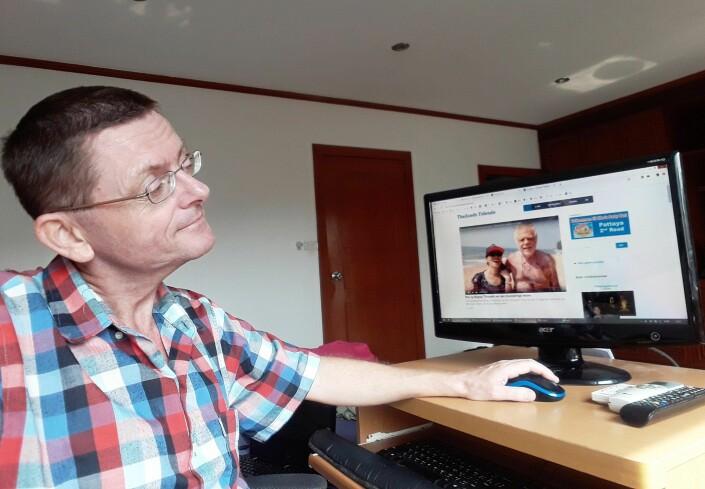 Ekeberg redigerer et videoinnslag med polfarer Ragnar Thorseth som er gift med en thailandsk kvinne. Videografen Helge Heyerdahl er en langvarig bidragsyter i Thailands Tidende.