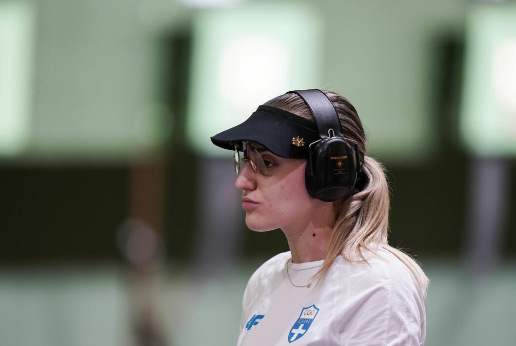 Anna Korakaki måtte tåle sterk kritikk fra programleder Dimosthenis Karmoiris.