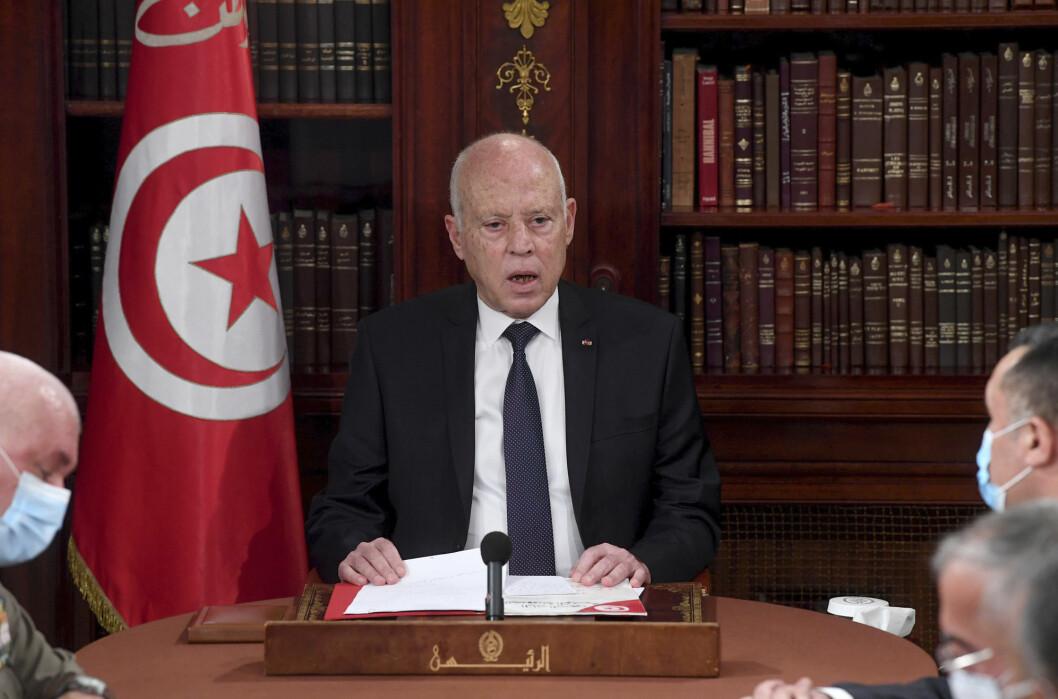 President Kais Saied har stengt nasjonalforsamlingen og sparket statsministeren.