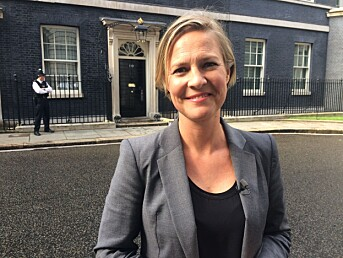 Fra Downing Street i 2016, da David Cameron gikk av og Theresa May trådde inn.