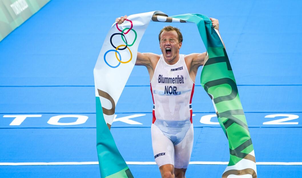 Kristian Blummenfelt sikret gull i triatlon for menn i Odaiba Marine Park i Tokyo.