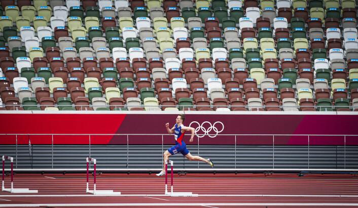 Karsten Warholm startet OL med kvalifisering på 400 meter hekk natt til fredag. Han kunne jogge inn til heatseier.
