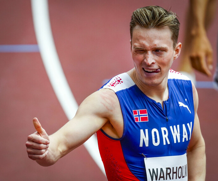 Karsten Warholm leverte 48,65 i OL-kvalifisering på 400 meter hekk.