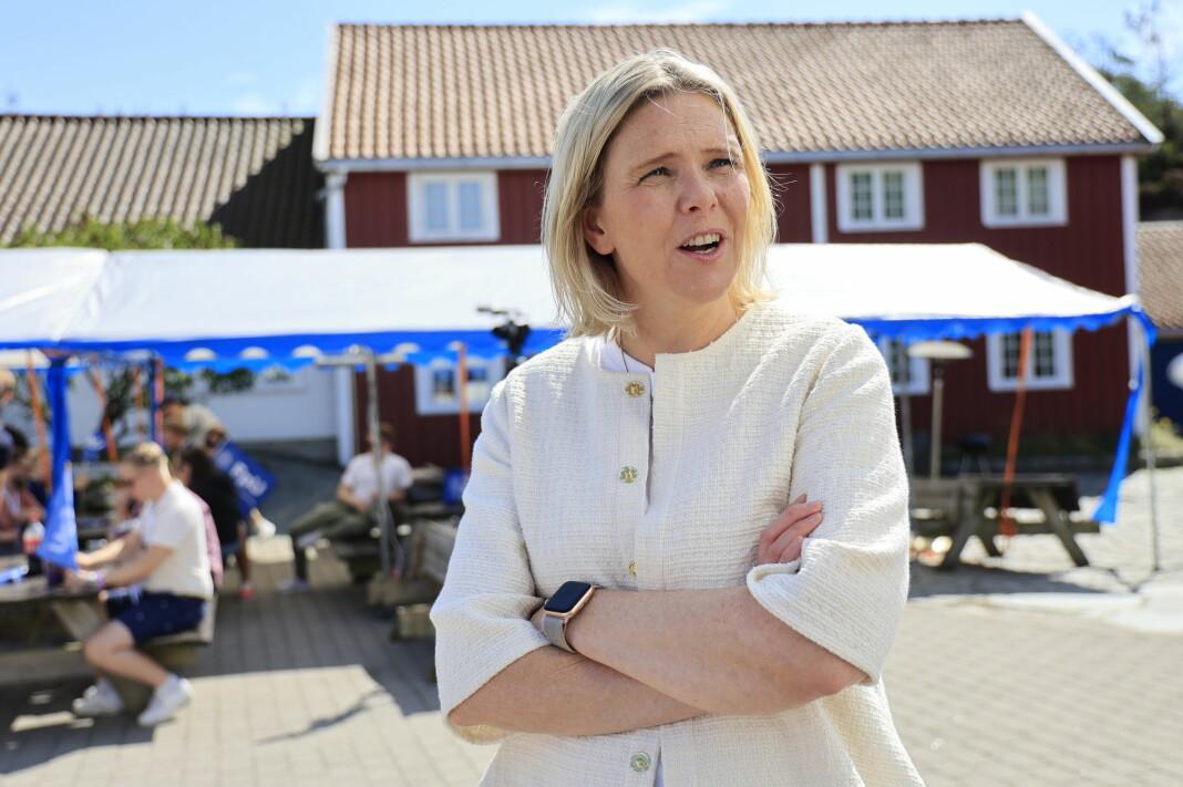 Sylvi Listhaug mener Faktisk.no er en trussel mot fri meningsutveksling.