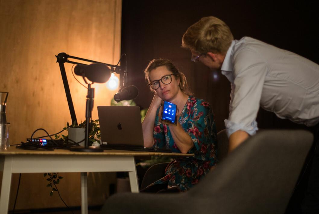 Eva Sannum og Svein Tore Bergestuen når stadig flere medieinteresserte lyttere med podkasten Tut & Mediekjør.