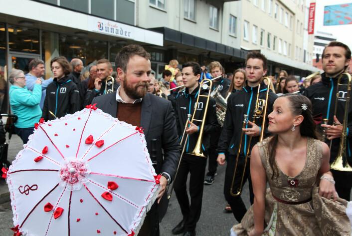 Kunnskapsminister Torbjørn Røe Isaksen under åpningen av Moldejazz i 2015.