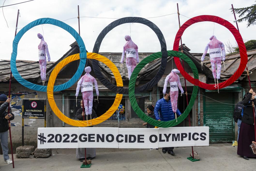 I India ble det i vinter protestert mot neste års OL i Beijing.