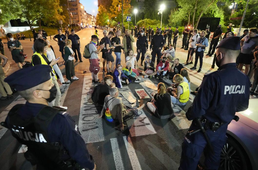 Det har vært flere demonstrasjoner mot den omstridte medieloven. Dette bildet er fra 12. august.