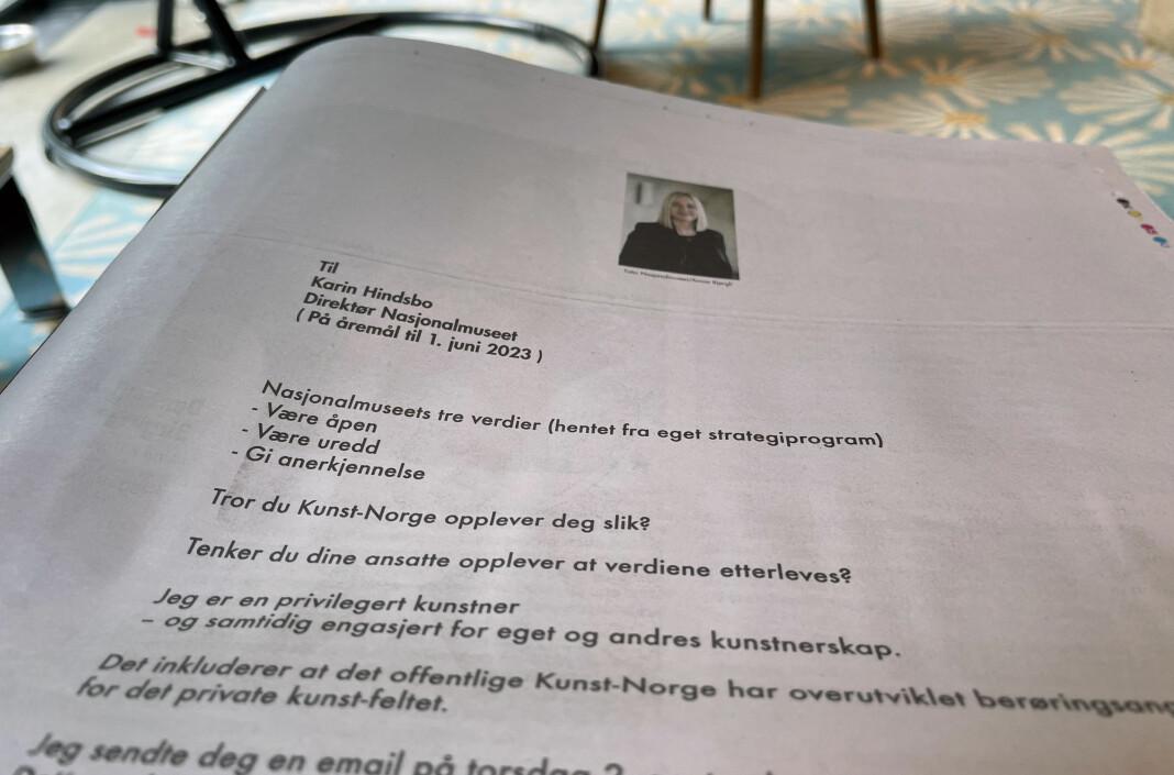 Annonsen som sto på trykk i Aftenpostens papirutgave 11. september.