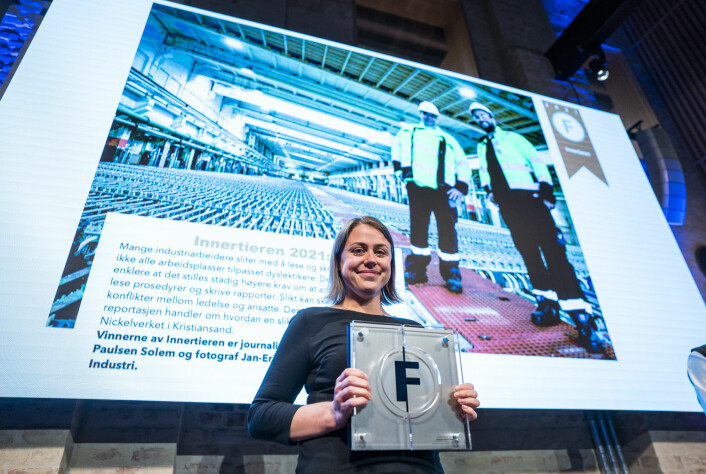 Magasinet Industri Energi, ved redaktør Tonje Paulsen Solem, vant prisen Innertieren.