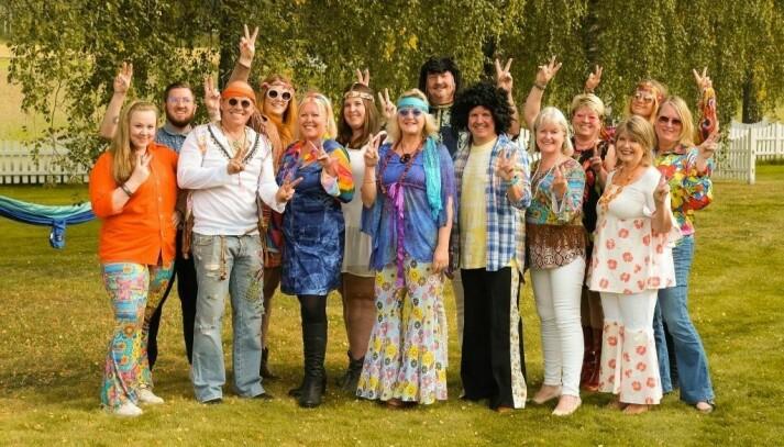 Hippiefest for å feire gode resultater