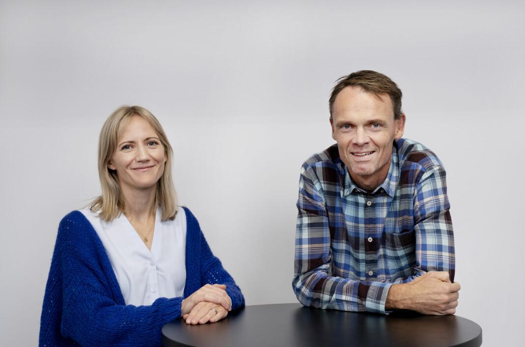 Prosjektleder Leni Aurora Brækhus og ansvarlig redaktør Tore Ryssdalsnes prøver å nå arbeidsinnvandrerne med ny journalistik satsing.