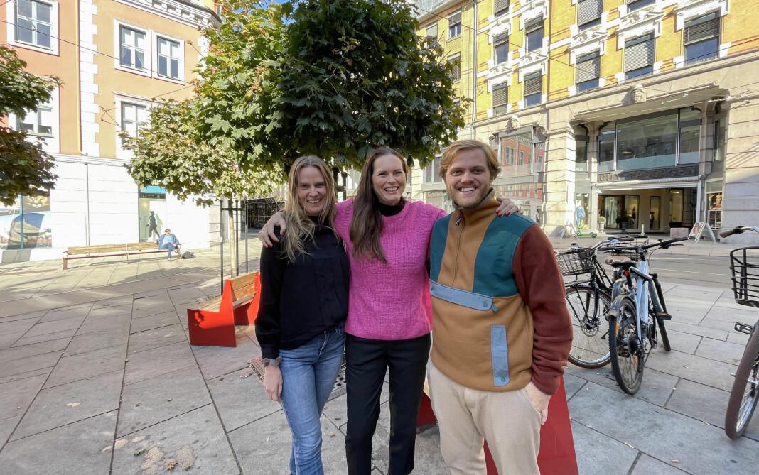 Nytt navn og ny podkast: Fra venstre prosjektleder Marte Jære Brandt, administrerende direktør Hilde Apneseth og digital innholdssjef Johannes Grindheim Ølfernes i Metro Sounds.