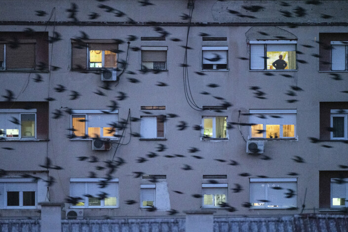 Et leilighetskompleks i byen Veles.