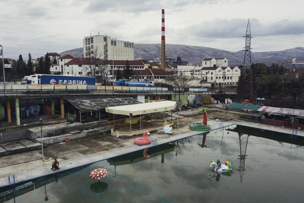 En vannpark i utkanten av Veles i Makedonia.