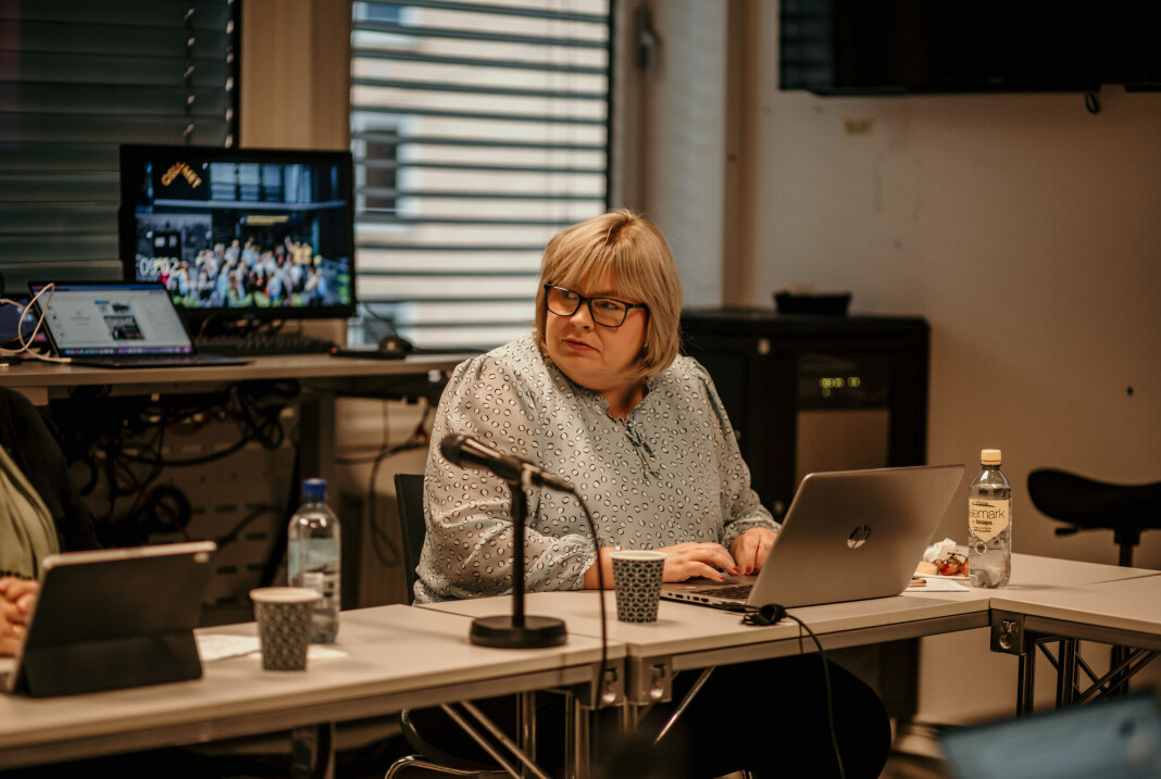 Generalsekretær Elin Floberghagen i Norsk Presseforbund på det siste møtet i Pressens Faglige Utvalg.