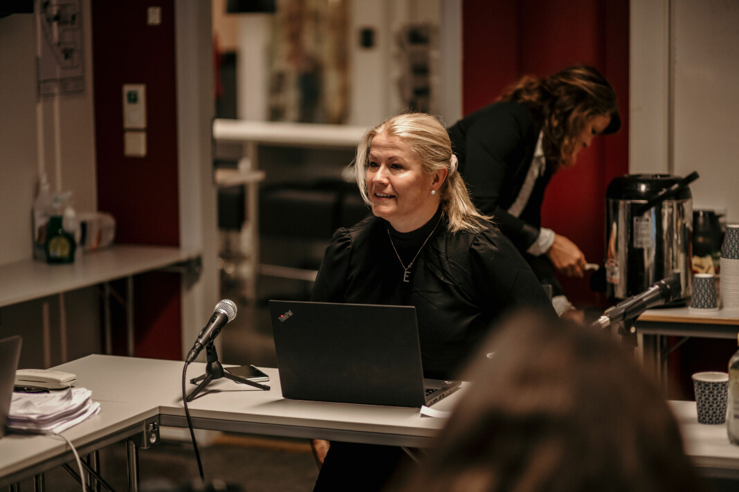 NRK ble ikke felt for dokumentar om den norske svineindustrien hos PFU. Her ved nestleder Ellen Ophaug.