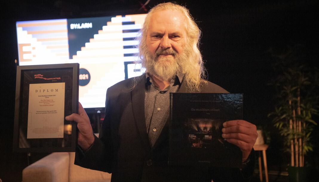 Arvid Skancke-Knudsen vinner prisen for beste musikkjournalistikk for boka «Da musikken stilnet».