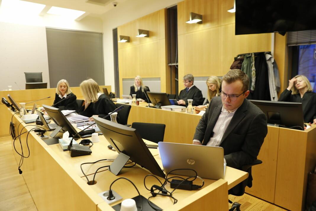 Tidligere redaktør Gaute Drevdal ble dømt for ni voldtekter. Her fra saken gikk i Oslo tingrett.