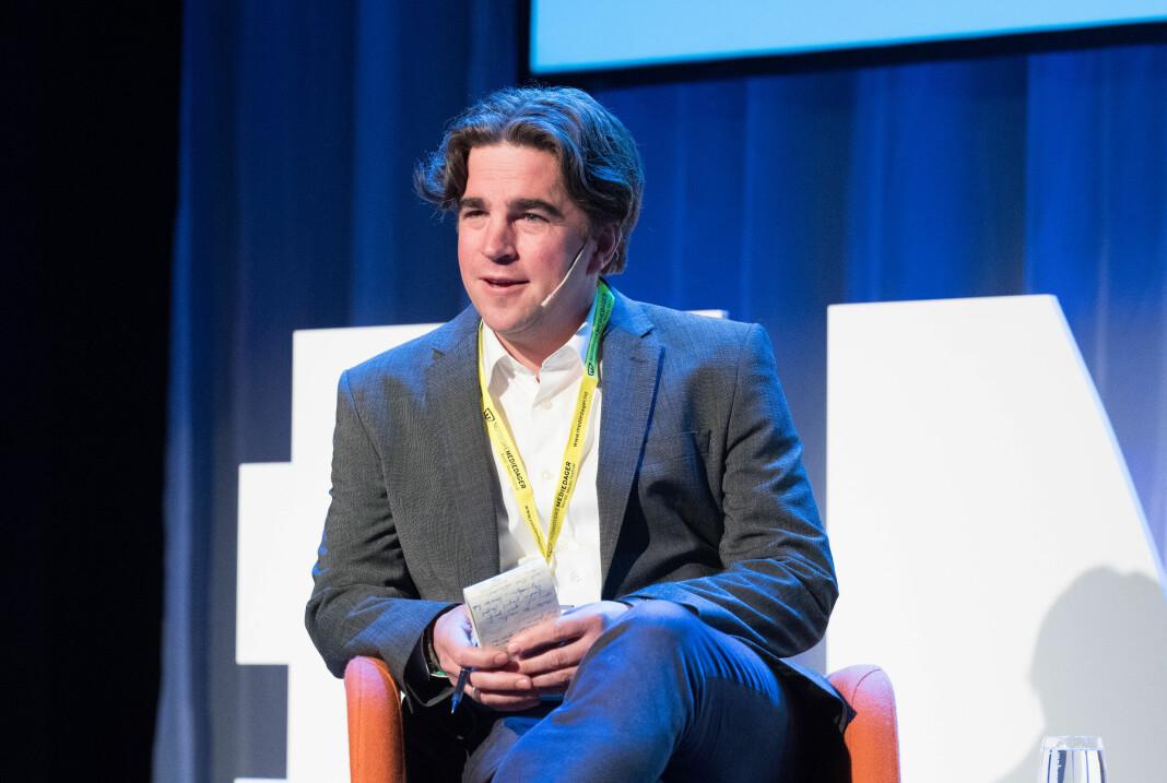 Programleder på Skup-arrangementet er Aftenpostens Kristoffer Rønneberg. Her fotografert under Nordiske Mediedager i 2019.