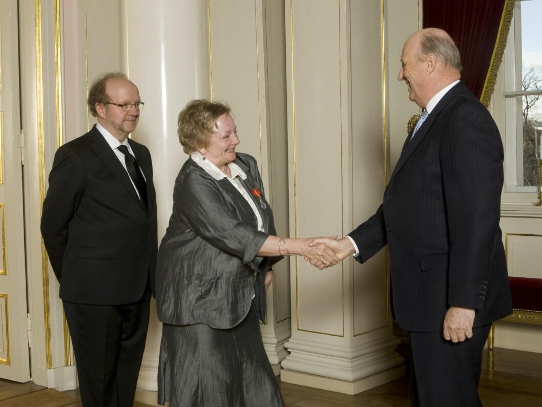 Anne Baggethun mottok i 2007 Kongens fortjenstmedalje.