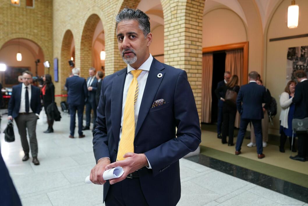 Kulturminister Abid Raja var på plass på Stortinget i dag i forbindelse med fremleggingen av statsbudsjettet.