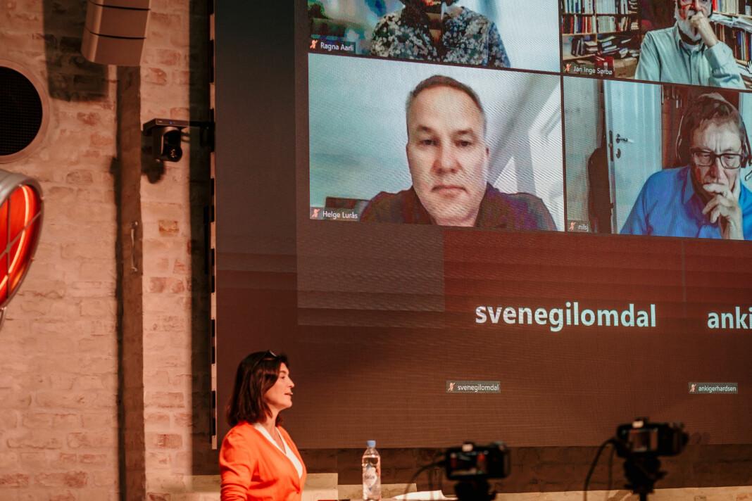 Resett-redaktør Helge Lurås varsler pressestøttesøknad. Her fra innspillsmøte mellom mediebransjen og Ytringsfrihetskommisjonen.